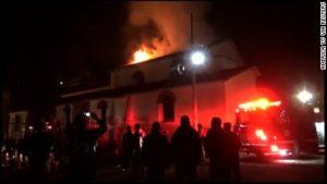 Peru San Sebastian Church-on-fire