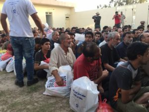 suspected ISIS members held in a detainment compound not far from Fallujah after the city was captured by the Iraqi army.