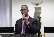 "Bishop Claude Alexander, senior pastor, The Park Church, Charlotte, North Carolina speaks at the ""National Conversation on Race"" conference convened by Movement Day Global Cities at Bethel Gospel Assembly in New York City, New York on Monday October 24, 2016."