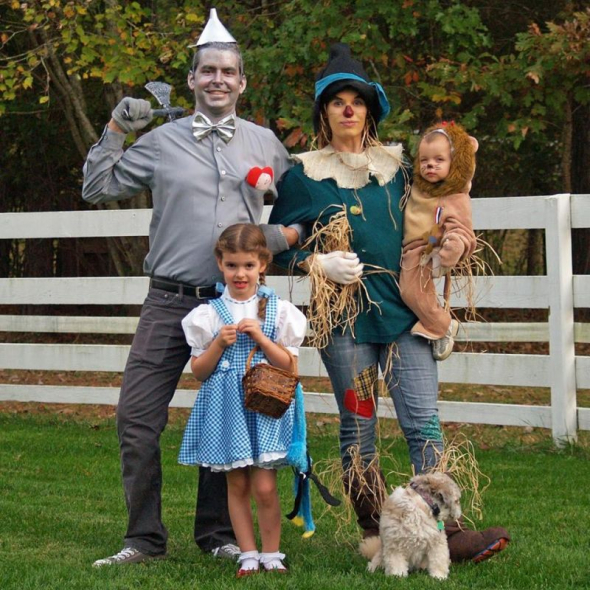 Lance Buckley and his family all dressed up for Halloween 2016.