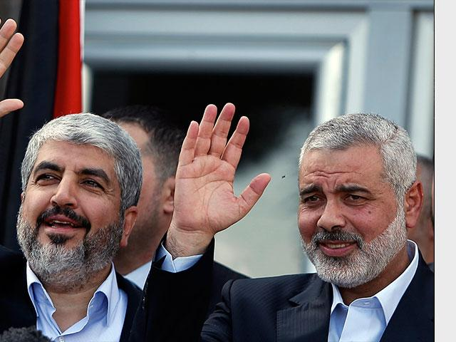 Khaled Meshaal and Ismail Haniyeh
