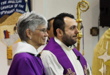 New Westminster Bishop Melissa Skelton introduces the Rev. Fr. Ayoob Adwar as a priest in the Anglican Church of Canada