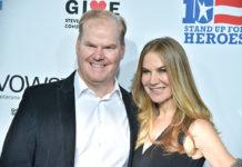 Comedian Jim Gaffigan And Wife